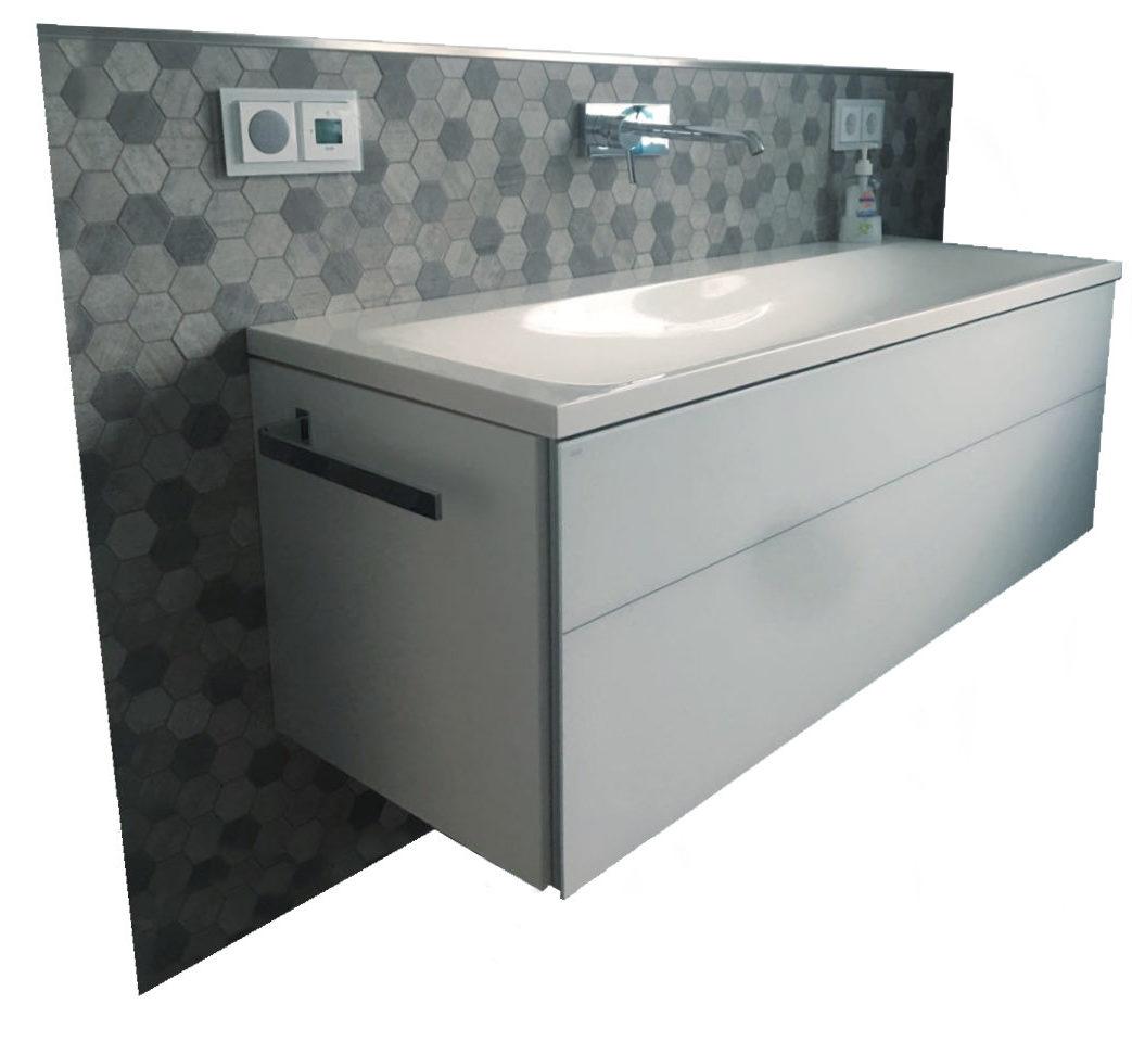Sanitär Luxus Waschtisch mit Mosaik fließen - Haustechnik Biancofiore