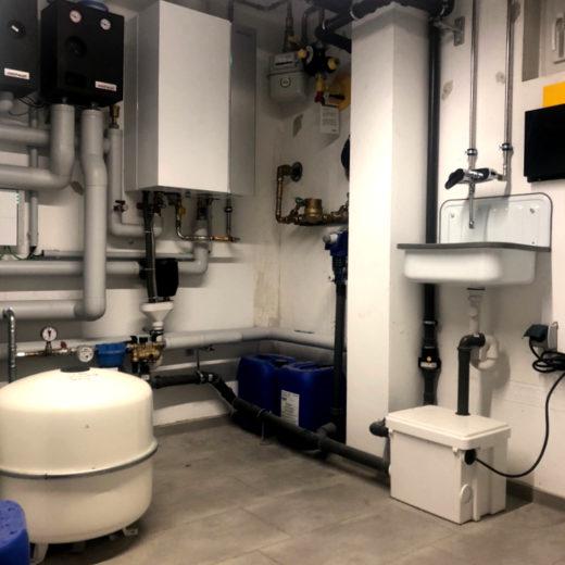 Moderne Sanitär und Heizungsinstallation